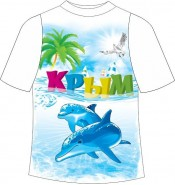 Детская футболка Крым дельфин 2