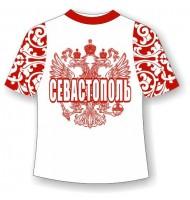 Детская футболка Севастополь хохлома красная