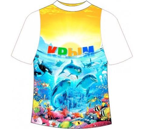 Детская футболка Дельфин Море