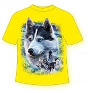 Детская футболка Лайка упряжка 805 (B)