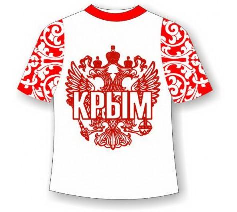 Детская футболка хохлома Крым красная