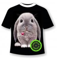 Детская футболка с кроликом