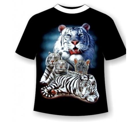 Футболка белые тигры TDA 137