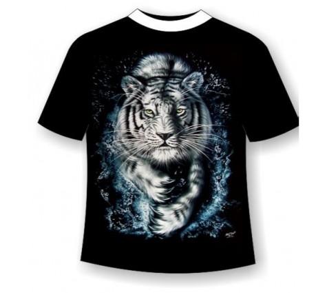 Футболка белый тигр R 404
