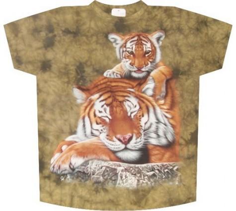 Мужская футболка с тиграми