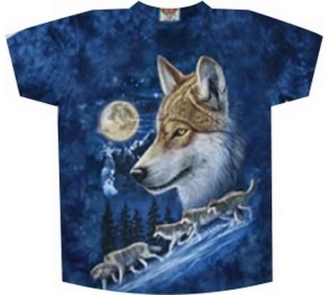 Мужская футболка с волками