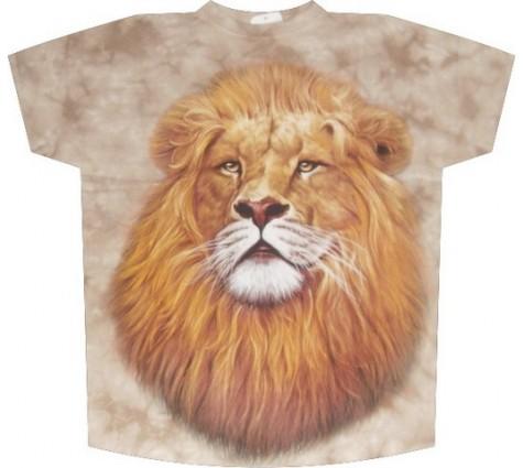 Мужская футболка со львом
