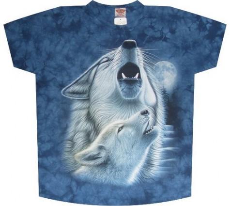 Мужская футболка волки
