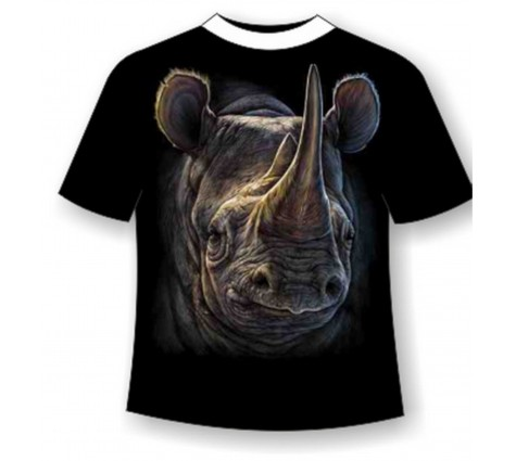 Футболка носорог