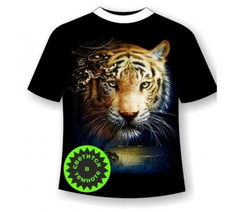 Футболка тигр светящаяся в темноте