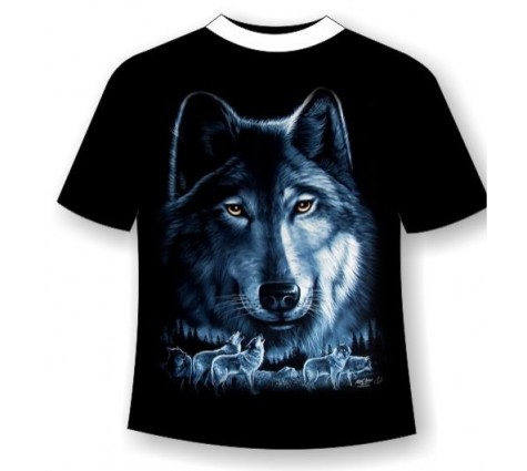 Футболка волк R 611