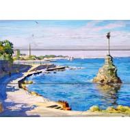 Картина Памятник затопленным кораблям