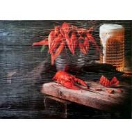 Картина на досках Пиво-раки