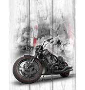 Картина с мотоциклом 1061
