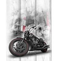 Картина с мотоциклом