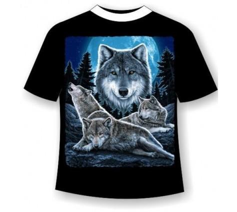 Футболка с волками