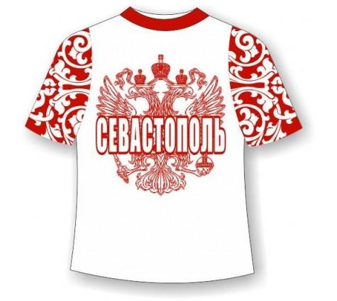 Футболка хохлома Севастополь красная