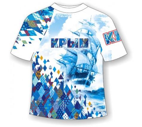 Футболка больших размеров Крым-Ромбы