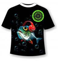 Футболка с рыбой KL 10