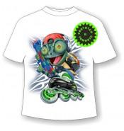 Детская футболка с ящерицей 1066
