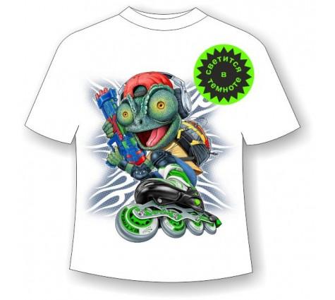 Детская футболка с ящерицей