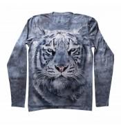 Мужская футболка с длинным рукавом Белый тигр KP 117
