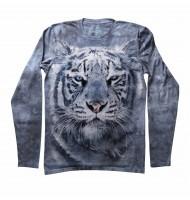 Мужская футболка с длинным рукавом Белый тигр
