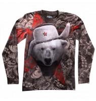 Мужская футболка с длинным рукавом Белый медведь