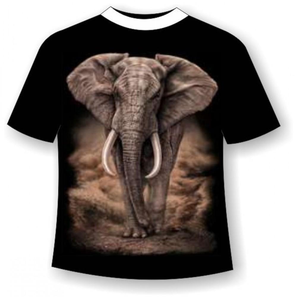 Футболка большого размера Слон