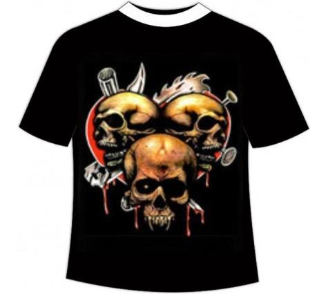 футболка три черепа