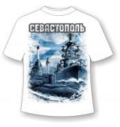 Детская футболка Севастополь Андреевский флаг 756 (В)