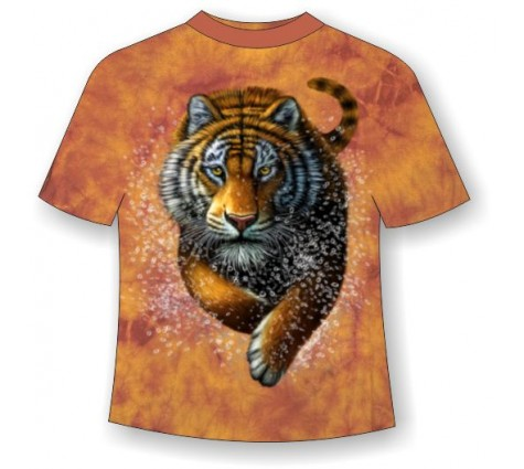 Футболка с бегущим тигром