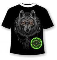Футболка Волк ловец снов №658