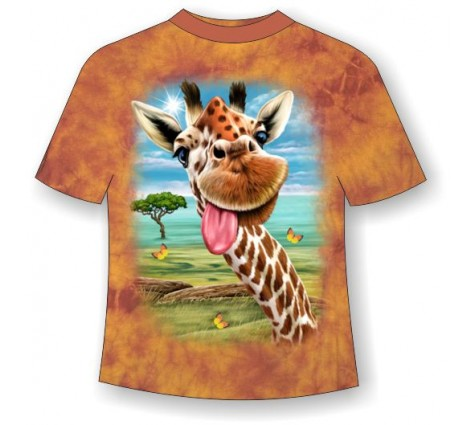 Футболка Жираф веселый