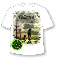 Футболка Fallout светящаяся в темноте
