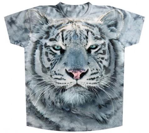 Футболка Батал Белый тигр KP 117