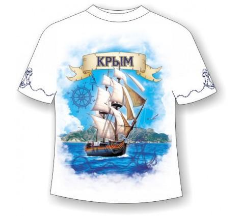 Футболка батал Крым-парусник 711