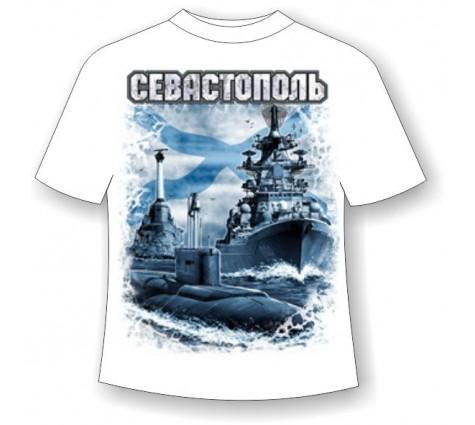 Футболка батал Севастополь Андреевский флаг 756