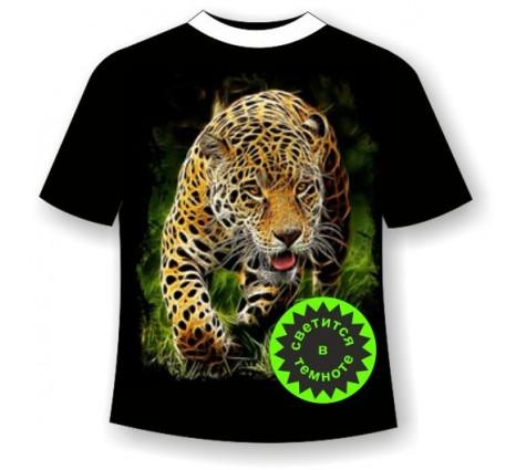 Леопард крадущийся светящаяся в темноте