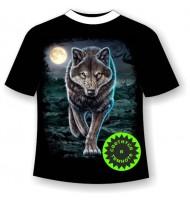 Футболка Крадущийся волк светящаяся в темноте