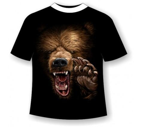 Футболка с медведем светящаяся в темноте