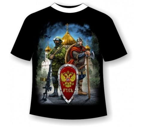 Футболка С надписью Русь