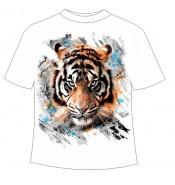 Футболка с тигром 123