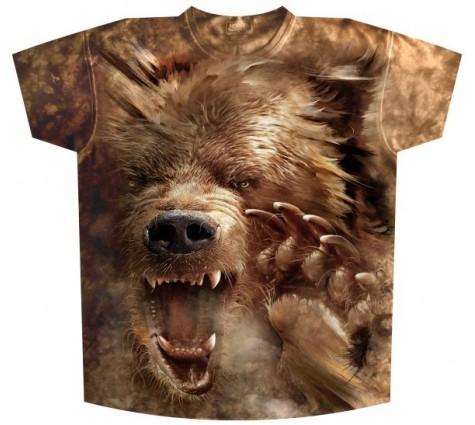 Мужская футболка Медведь злой