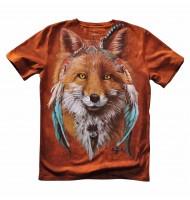 Подростковая футболка Лиса Хиппи KP 187