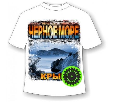 Футболка Черное море Крым светящаяся в темноте
