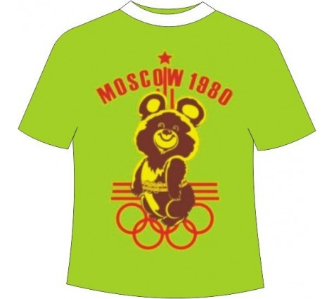 Футболка с олимпийским мишкой
