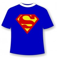 Футболка с приколом Супермен