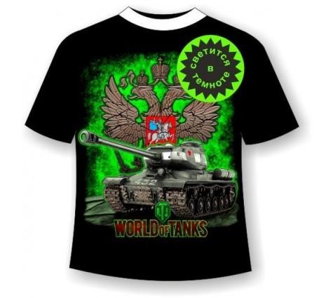 Футболка World of tanks 3 светящаяся в темноте