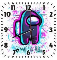 Часы Амонг Ас Неон